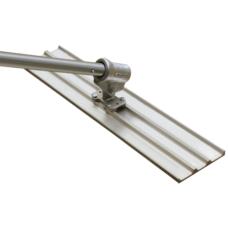 "Picture of 24"" x 8"" Multi-Trac Bull Float Groover with Knucklehead® II Bracket - 1/2"" Spacing"