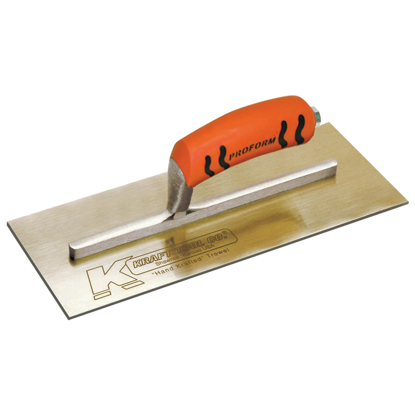 "Picture of 10-1/2"" x 4-1/2"" Golden Stainless Steel Finish Trowel with ProForm® Handle"