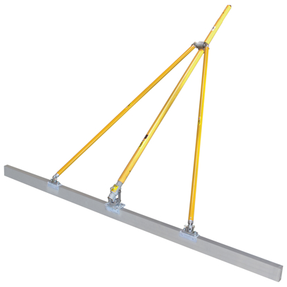 """Picture of Gator Tools™ 10' x 1-1/2"""" x 3-1/2"""" Diamond XX™ Paving Screed Kit with Bracket, Out Riggers, & 3 Handles"""