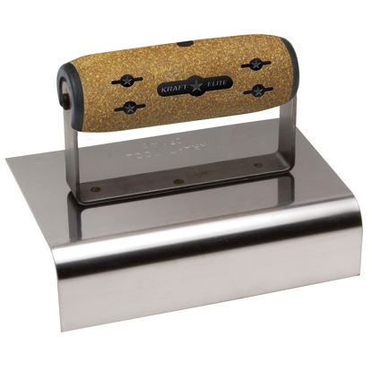 "Picture of 6"" x 4""  1-1/2""R Elite Series Five Star™ Outside Curb & Sidewalk Tool with Cork Handle"