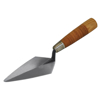 "Picture of 5"" Archaeology Pointing Trowel with Leather Handle"