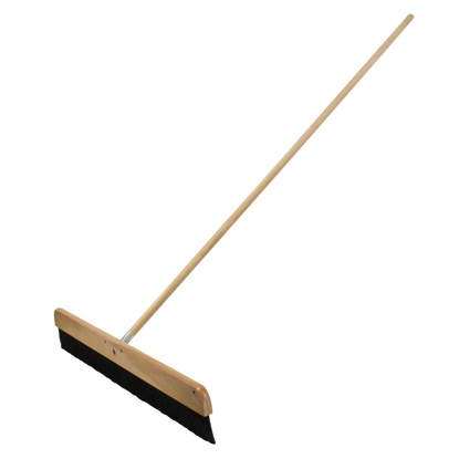 "Picture of 18"" Wood Concrete Finishing Broom with Handle"