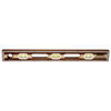 "Picture of 36"" Professional Walnut/Maple Laminated Level (6 Vials)"
