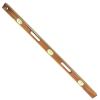"Picture of 42"" Professional Brass Bound Mahogany Level (6 Vials)"