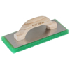 "Picture of 12"" x 5"" x 1"" Green Coarse Texture Float with Wood Handle"