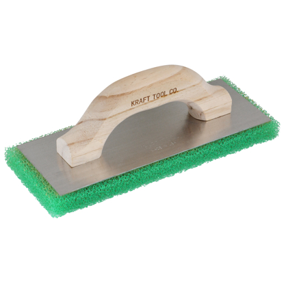 "Picture of 10"" x 4"" x 3/4"" Green Coarse Texture Float with Wood Handle"