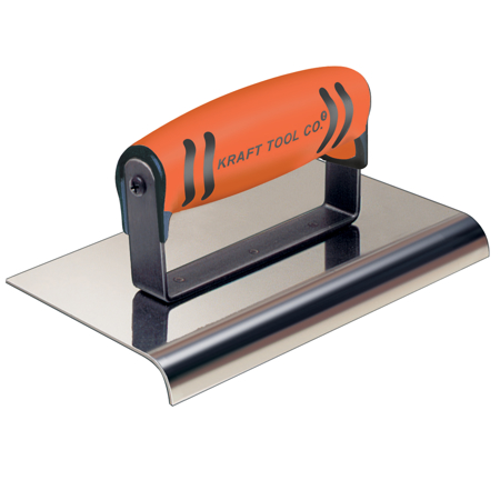 "Picture of 10"" x 6"" 1-1/2""R Stainless Steel Highway Edger with ProForm® Handle"