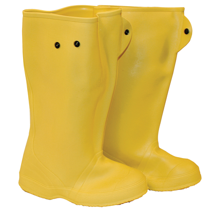 "Picture of 16"" Yellow Over-The-Shoe Construction Boots - Size 10"