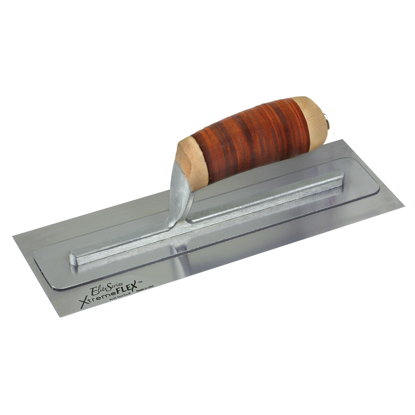 "Picture of Elite Series Five Star™ 13"" x 4"" XtremeFLEX™ Stainless Steel Trowel with Leather Handle"