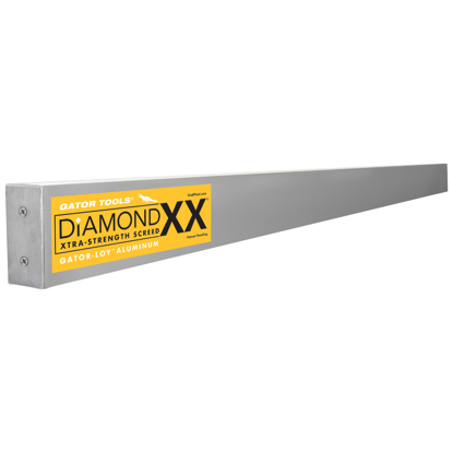 "Picture of Gator Tools™ 24' x 1-1/2"" x 3-1/2"" Diamond XX™ GatorLoy™ Aluminum Screed"