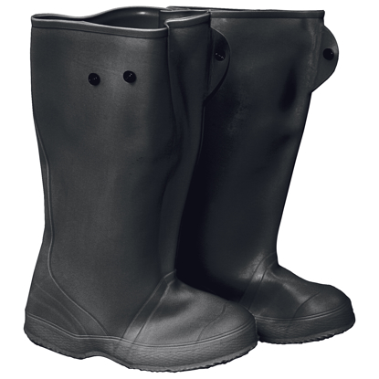 "Picture of 16"" Black Over-The-Shoe Construction Boots - Size 10"