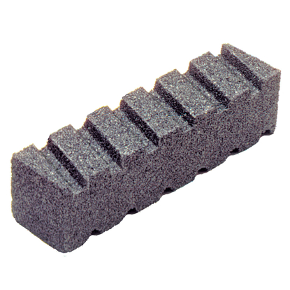 "Picture of 8"" x 2"" x 2"" Fluted Rub Brick - 20 Grit"