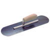 "Picture of 12"" x 3-1/2"" Blue Steel Pool Trowel with a Camel Back Wood Handle on a Short Shank"
