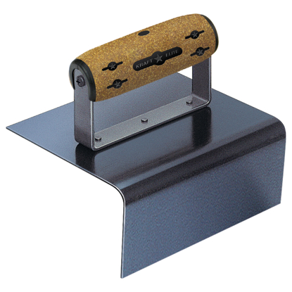 "Picture of 6"" x 6"" x 3-1/2"" 1""R Elite Series Five Star™ Blue Steel Outside Step Tool with Cork Handle"