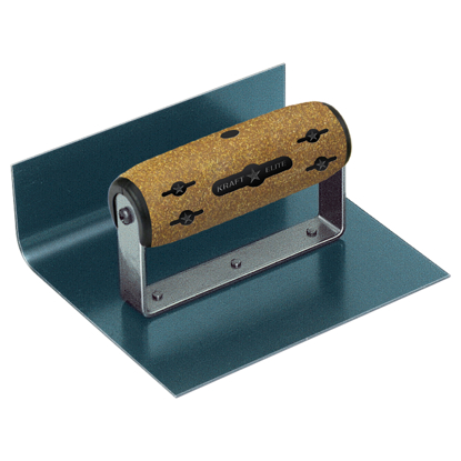 "Picture of 6"" x 6"" x 3""  1""R Elite Series Five Star™ Inside Blue Steel Cove Step Tool with Cork Handle"