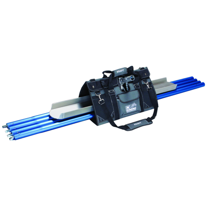 "Picture of EZY-Tote Tool Carrier™ with 48"" Channel Float, Knucklehead® II Bracket, and (4) 6 Ft. 1-3/8"" Button Handles"