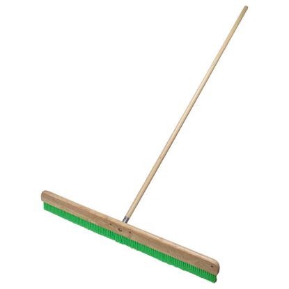 "Picture of 24"" Green Nylex® Soft Finish Broom with Handle"