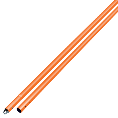 "Picture of 6' Orange Powder Coated Magnesium Swaged Button Handle 1-3/4"" Diameter"